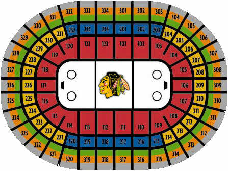 The United Center Home Of The Nhl 180 S Chicago Blackhawks
